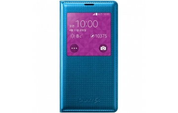 Оригинальный чехол S View Cover  для Samsung Galaxy S5 (G900) EF-CG900B Electric Blue