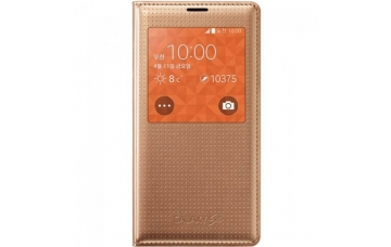 Оригинальный чехол S View Cover  для Samsung Galaxy S5 (G900) EF-CG900B Copper Gold