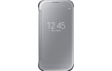 Оригинальный чехол для Samsung Galaxy S6 (G920) Clear S View Cover (Silver)