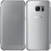 Galaxy S7 Edge (G935) - Чехол оригинальный S-View Flip Cover Clear (Silver) EF-ZG935C