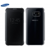 Galaxy S7 (G930) - Чехол оригинальный S-View Flip Cover Clear Black EF-ZG930CBEG