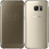 Galaxy S7 (G930) - Чехол оригинальный S-View Flip Cover Clear (Gold) EF-ZG930CFEG