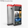 HTC ONE Dual (802w)  - Чехол-накладка Hard Shell - Grey