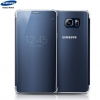 Galaxy Note 5 (N920) - Чехол оригинальный S-View Clear Flip Cover Blue EF-ZN920